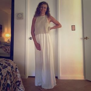 White Maxi Dress - Anthropologie by Moth